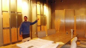 General Manager Andy Howse shows off the private event dining room as the construction plans are finalized