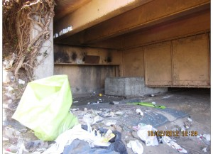 Homeless Camp beneath the overpass Hwy 101