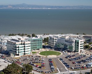Genentech's campus in South San Francisco offers excellent views of the San Francisco Bay.Photo: MPA Design