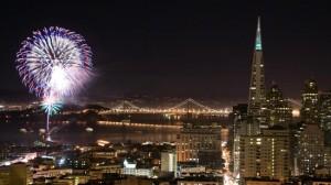 Fireworks at the San Francisco Embarcadero