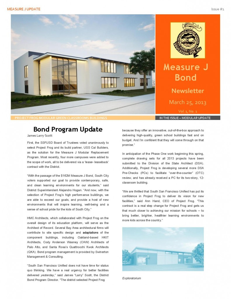 South San Francisco Measure J newsletter Mar 2013-page-001