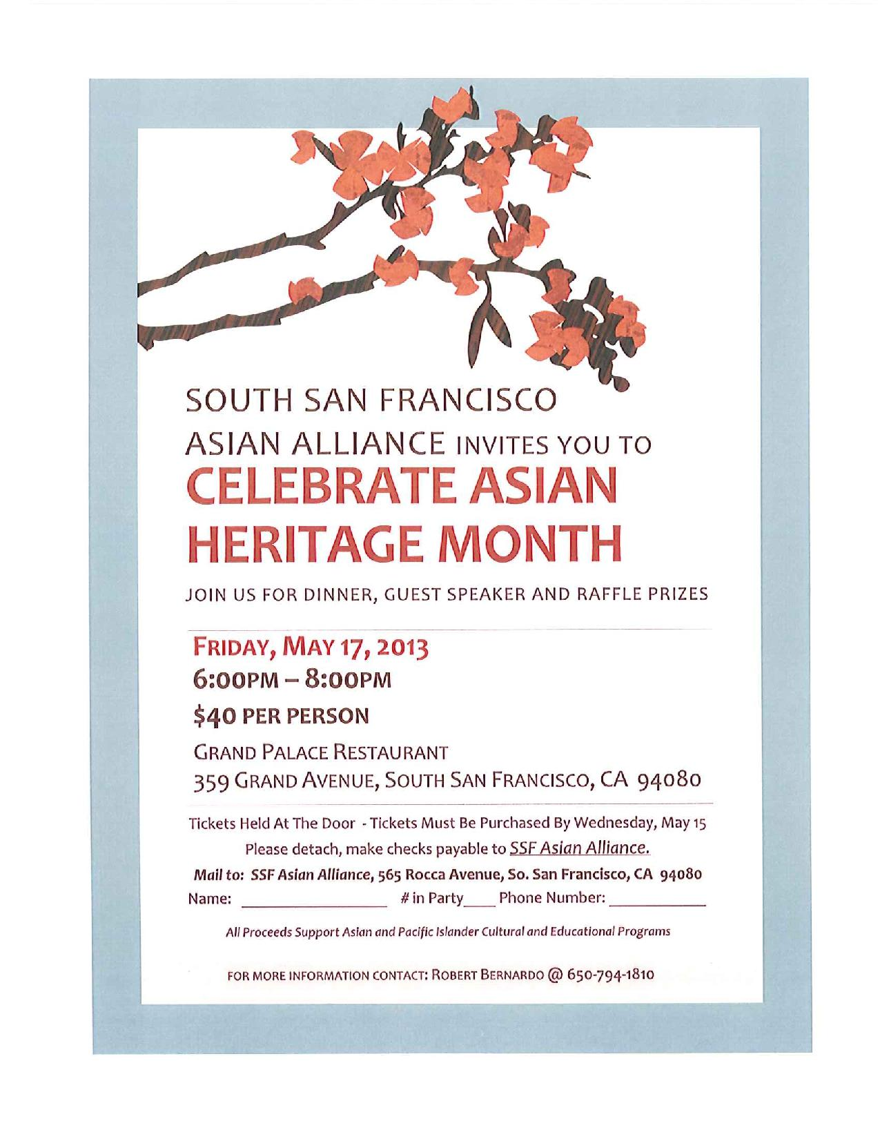 South San Francisco Celebrate Asian Month