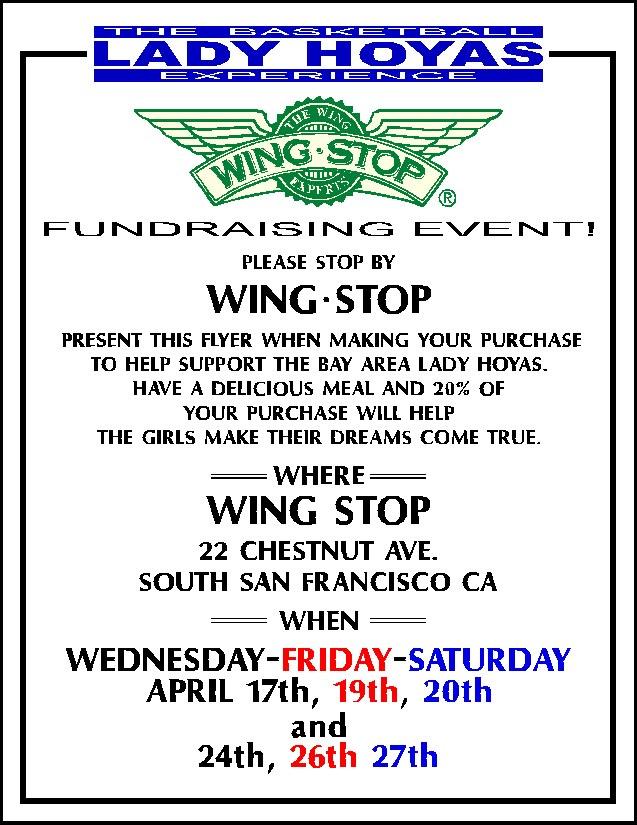 Wing Stop & Hoya Girls