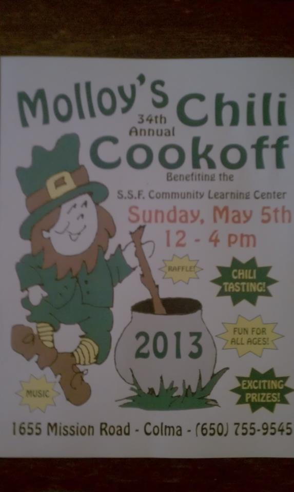 Molloys chili flyer