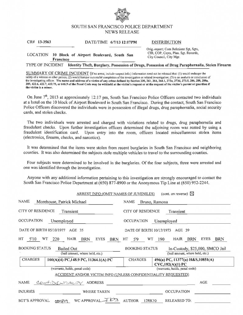 SSFPD 6.7.2013 Identity theft poss drugs firearm-page-001