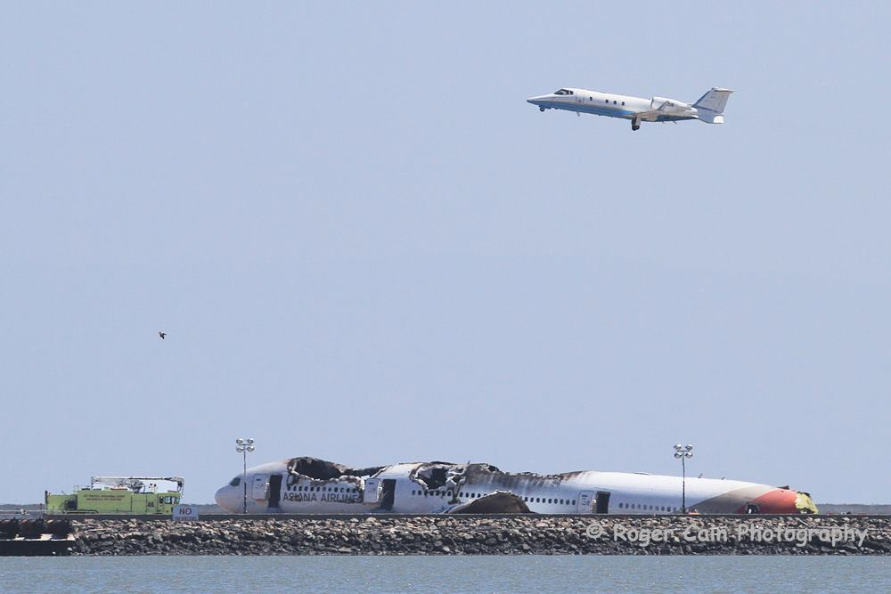 As N3 was departing, a second FAA Cessna (N58) made several passes to view the scene from the air. — at San Francisco International Airport (SFO).