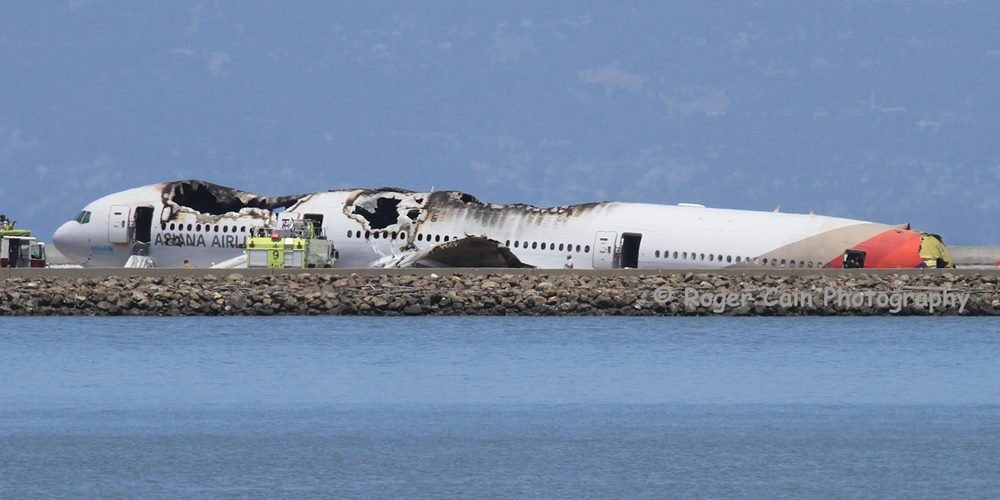 Bulkhead is visible where the tail broke off. Very fortunate that the majority of people walked away from this accident. — at San Francisco International Airport (SFO).