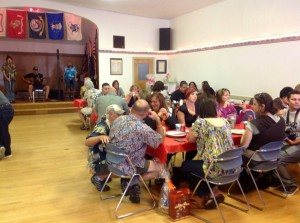 There was a full room with a steady flow of folks stopping in for dinner