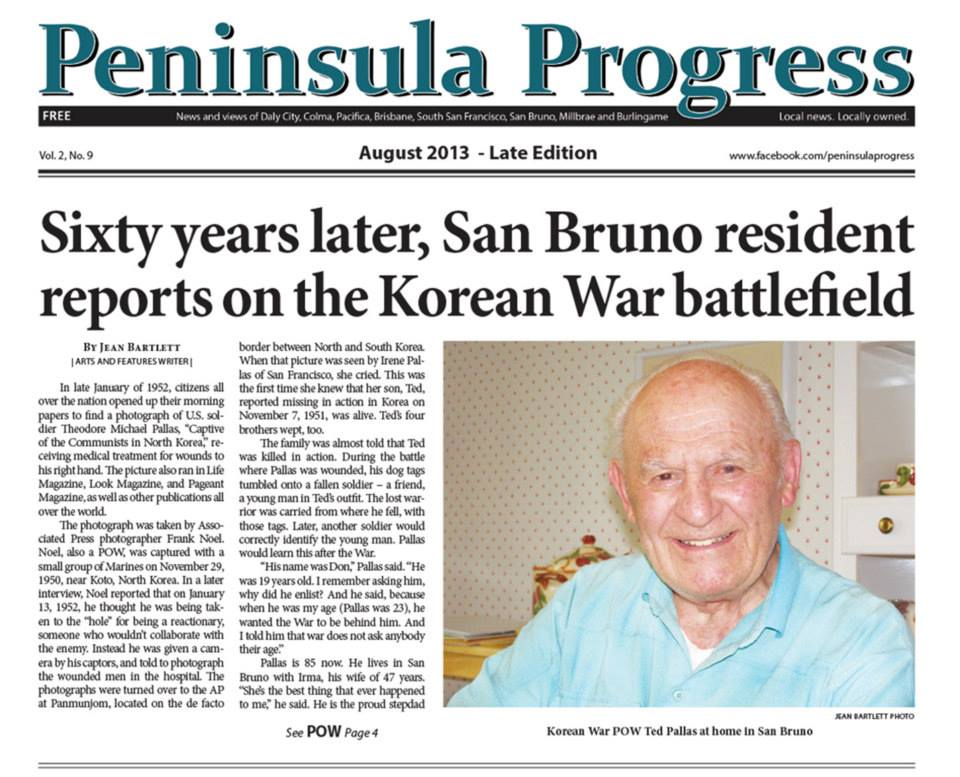 San Bruno Resident TED PALLAS reports on the Korean War
