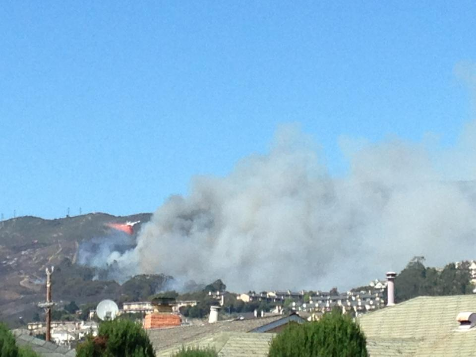 SSF fire. Coasties dropping fire retardant. Photo: Andrew Hernandez