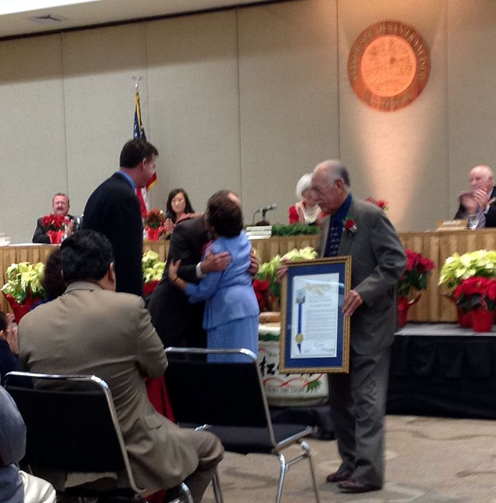 Outgoing Mayor Pedro Gonzalez and his wife Eldie received much recognition for the years of service to our city.  Photo: ESC