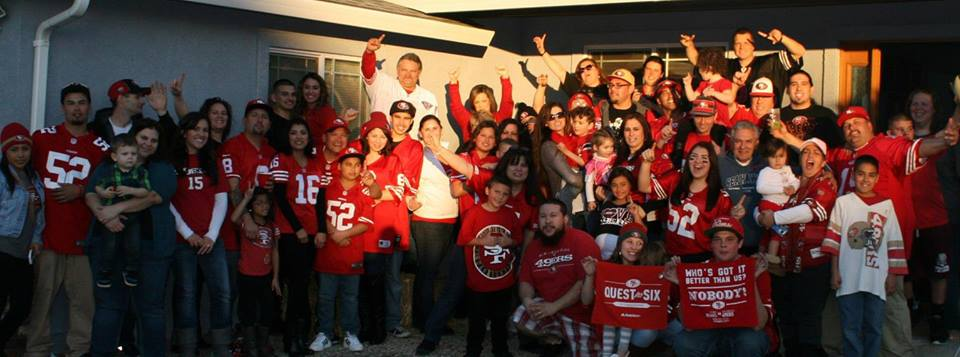 The family gets together to watch the 49ers, along with the lone Seahawk fan uncle  Photo: Jenn Balestier