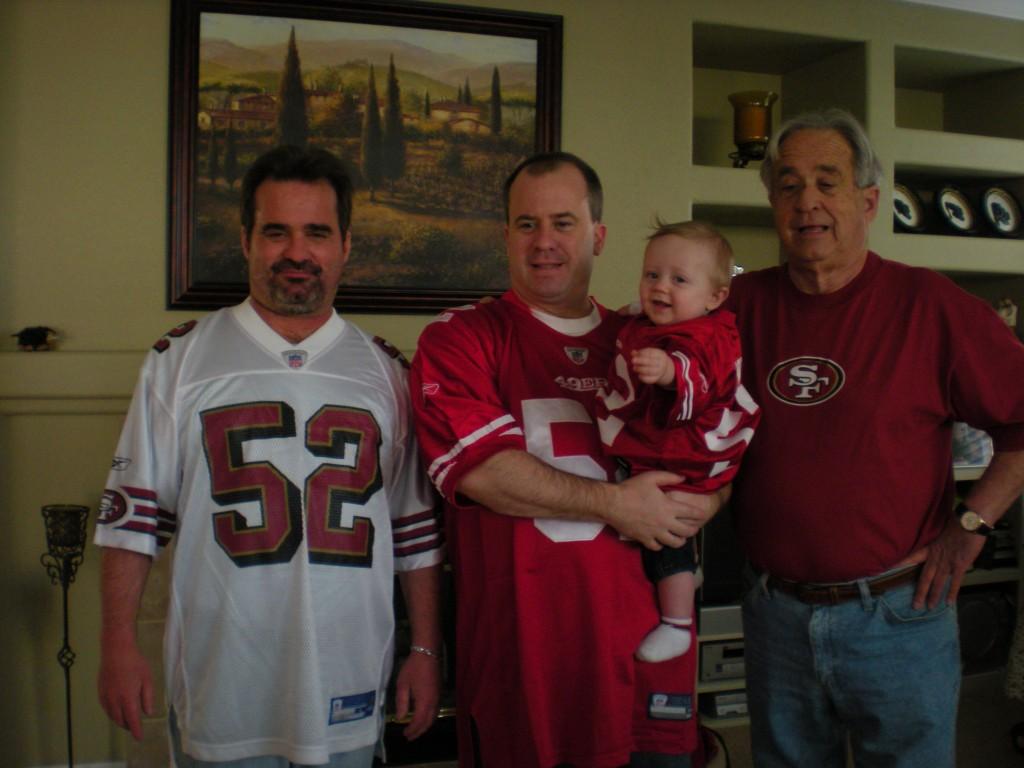 Willis' representing! My dad, brother, nephew and myself Photo: Chris Willis