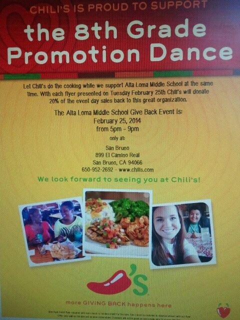 2.2014 Alta Loma Chilis fundraiser