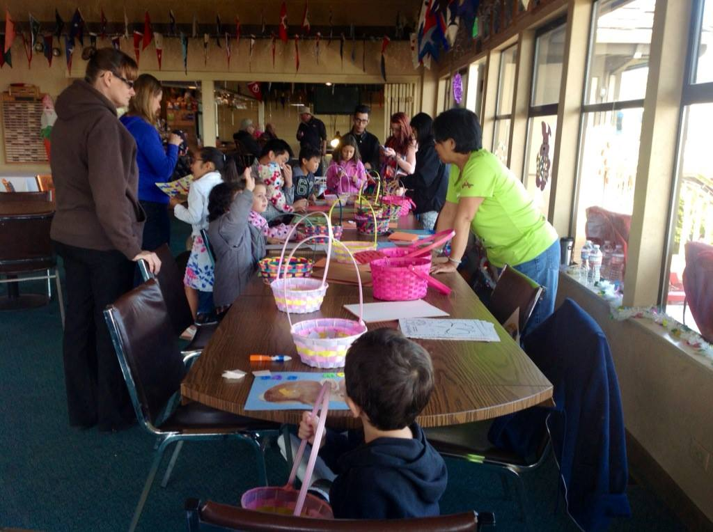 Crafts were provided free to the young ones
