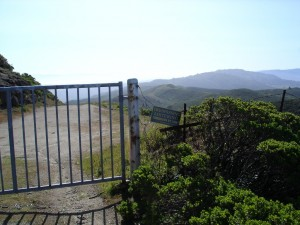 The locked gate at Montara Mountain prevents access into the sf watershed