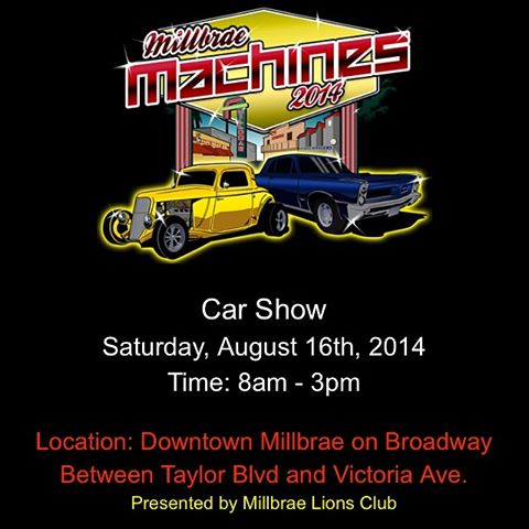 Millbrae Car show 8.16.2014