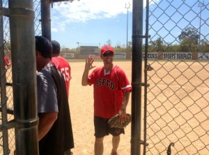 Fire Capt Todd Rael brought the heat resulting in his grand slam