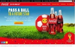 coke donate soccer ball