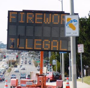 ALL fireworks are illegal in South City