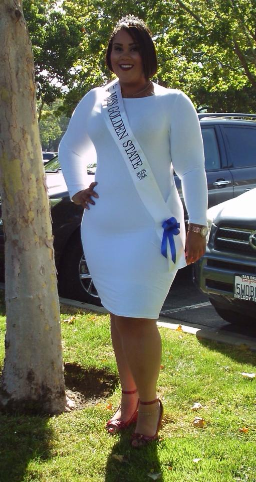 """""""Helping young girls learn to love themselves in the now and not after they those 5 pounds."""" Miss Golden State Plus USA"""