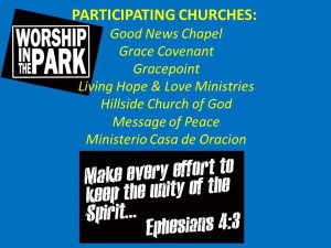 worship in the park 8.2014