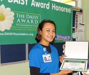SSF Kaiser's Critical Care RN Brenda Tocol was presented the DAISY AWARD