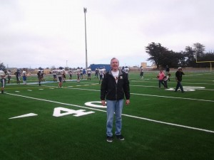 Rick at our High School new playing field