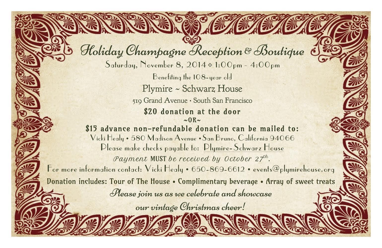 Plymire schwartz house champagne reception