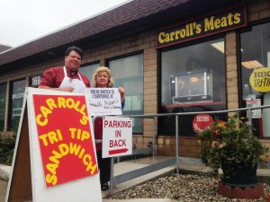 Located on SB Ave, Carroll's Meats boasts the BEST Tri-tip and meats!