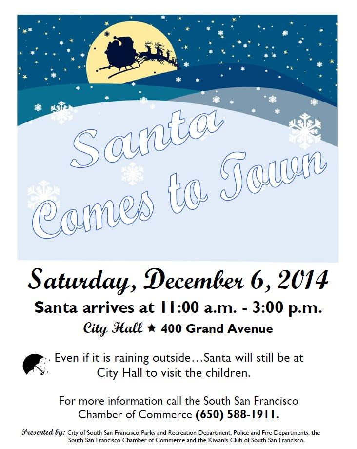 santa comes to town 12.6.2014