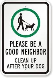 no dog poop good neighbor