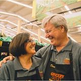 Owners of South City Grocery Outlet, Michelle and David, are small busines owners that LOVE what they do- and each other!