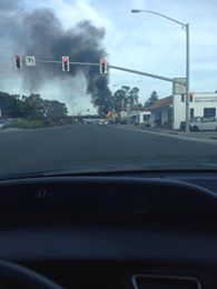 Bruna Correa Araujo checks in with this photo as she travels north on El Camino Real