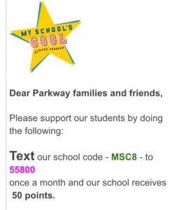 parkway text helping school