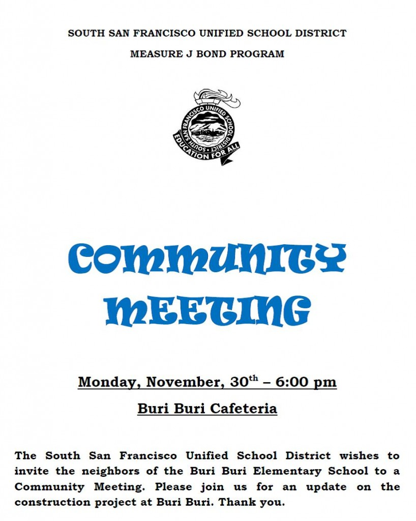 Community Meeting Nov 30 2015