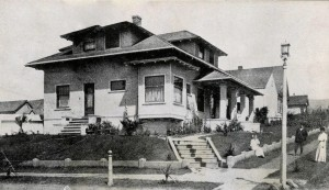 The original location of this home was the northwest corner of Grand and Spruce Avenues andwas built by Dr. Harry (aka Henry) Garriston Plymire as the region's medical center