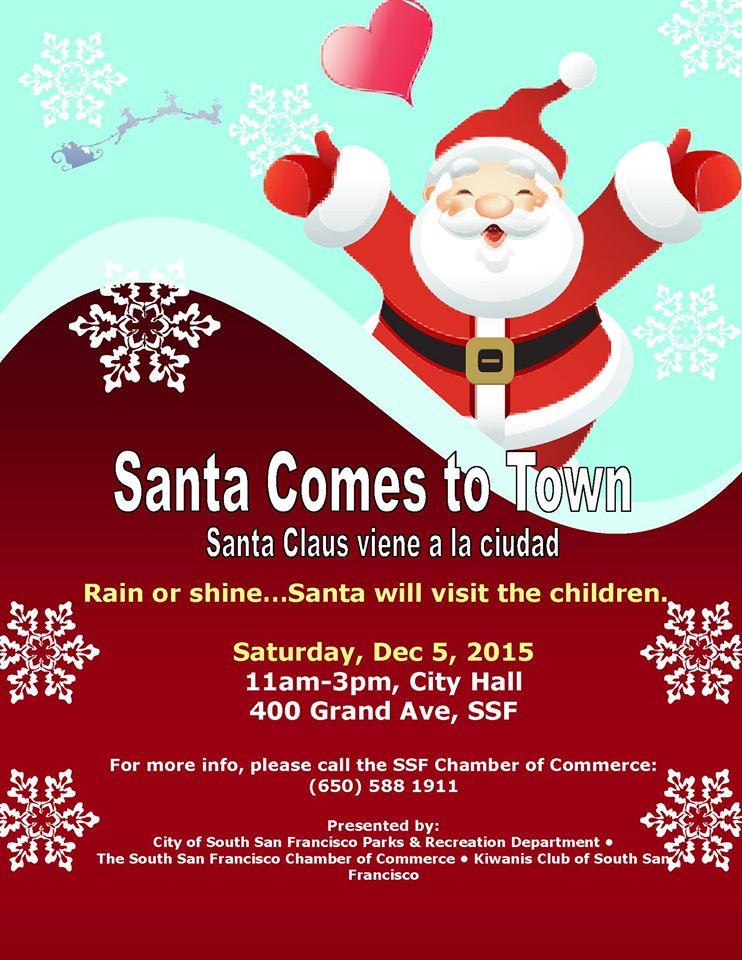 santa comes to town 2015