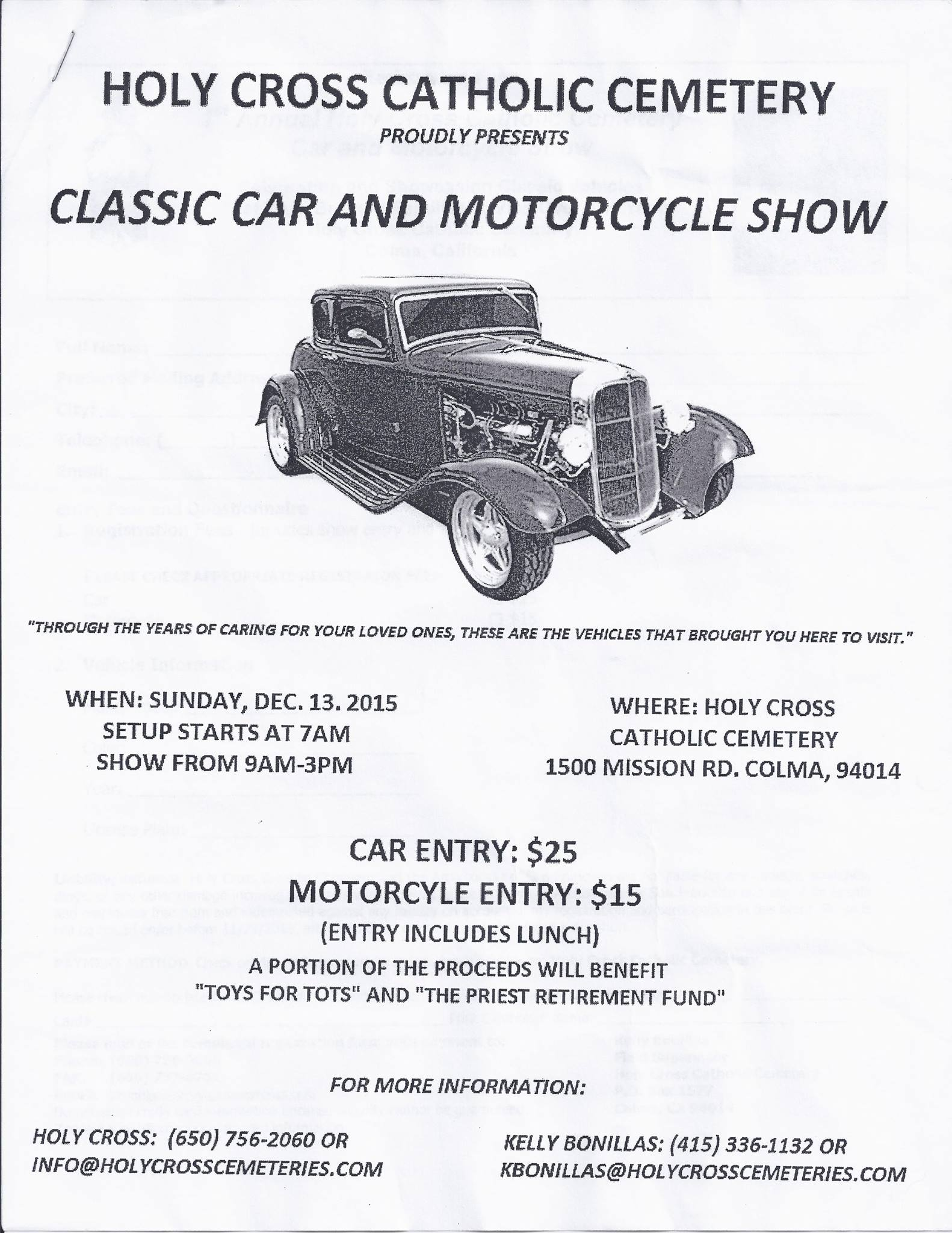 Holy Cross Catholic Cemetery car show 2015