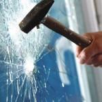 burglary smash window