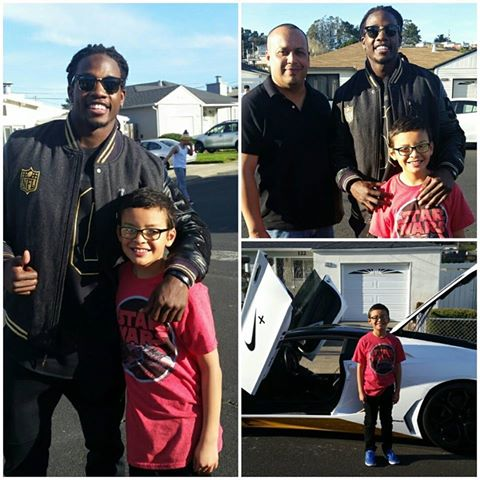Melvin Gordon of the San Diego Chargers made a visit to West Winston Manor  Photo credit Roger Pena
