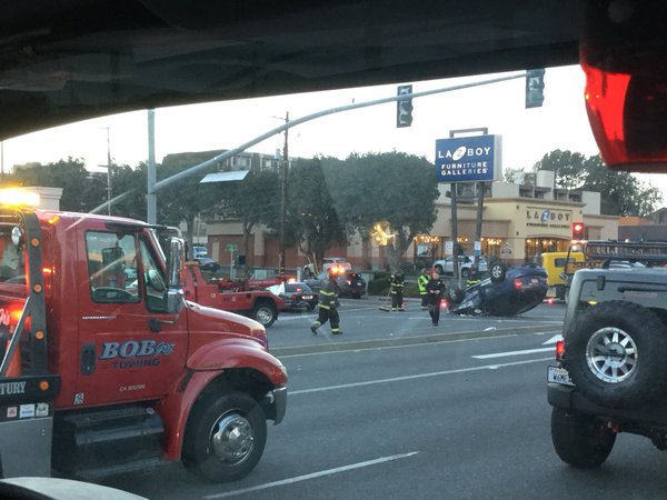 Accident on ECR Photo: SSFPD