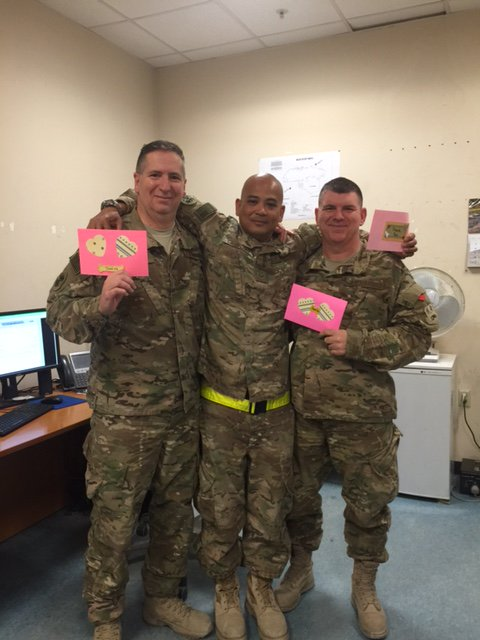 Thanks from @129RQW airmen to @EvrythingSoCty seniors & Sen. Hill for the valentines! Feeling love across the pond!