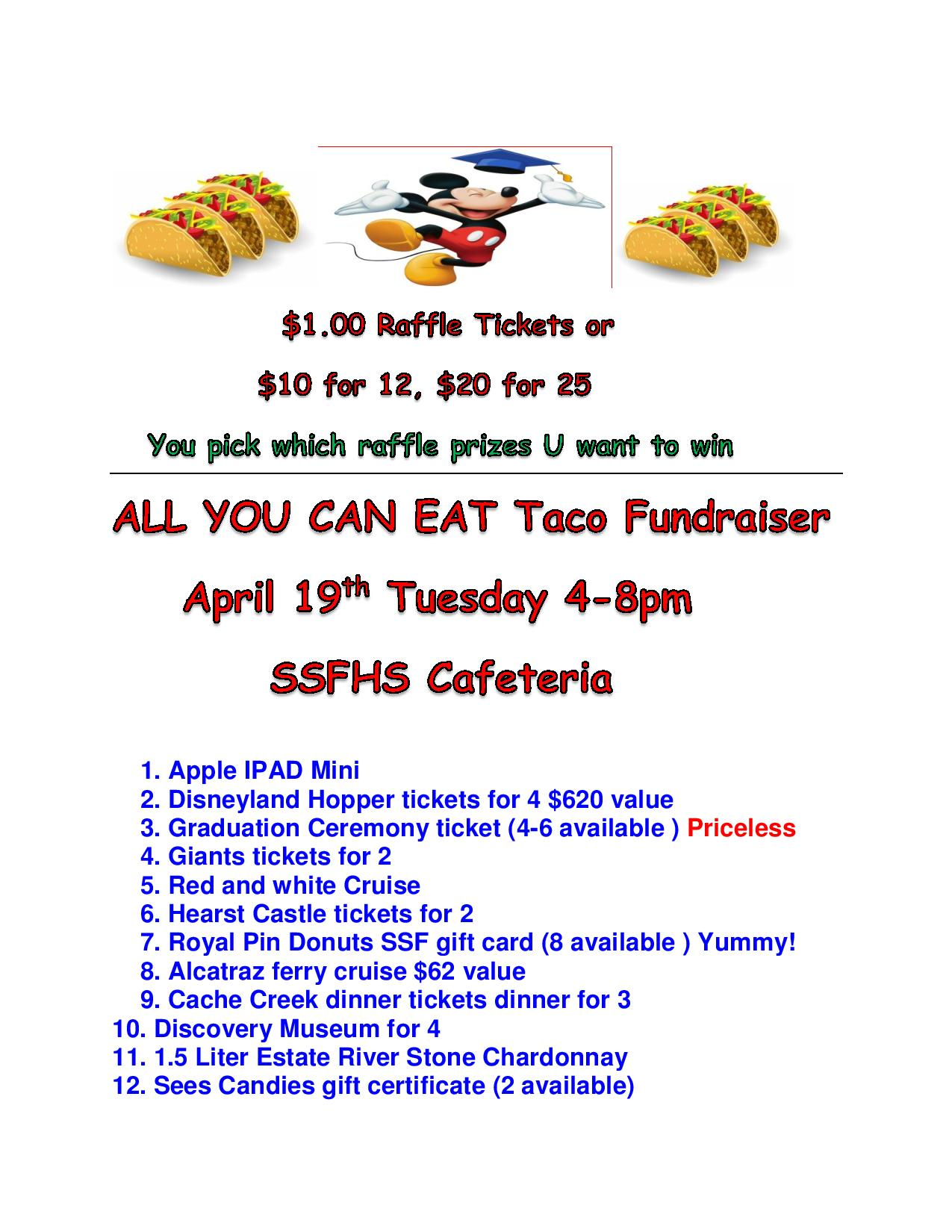 taco all u can eat raffle ticket items list april 19 2016 revised!!!!!!!#-page-001