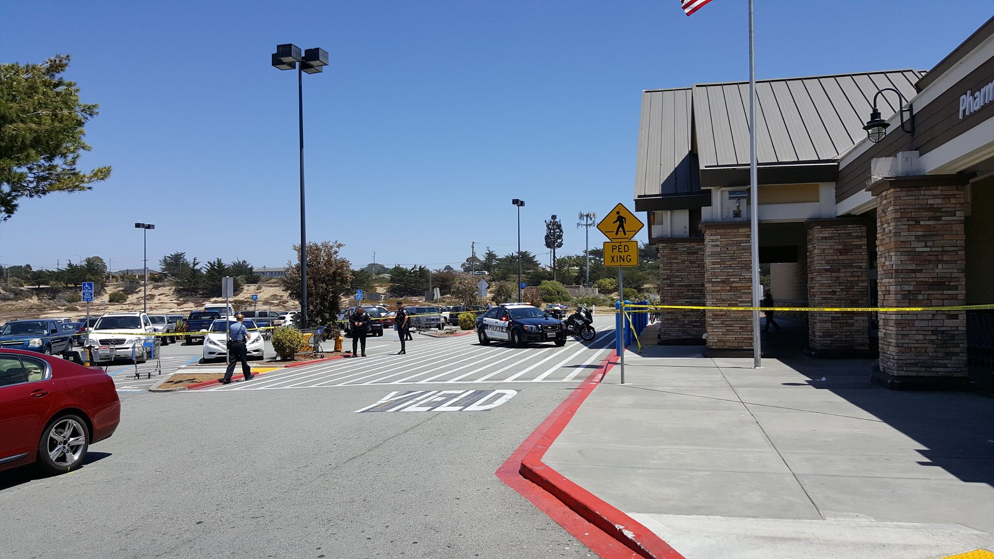 Nicole was killed in a tragic accident in this Marina Ca (Monterey County)  parking lot. Photo: Marina PD