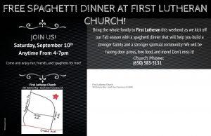 Spaghetti Dinner Postcard Back