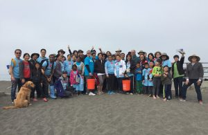 Over 85 Kaiser Permanente physicians and staff were part of Coastal Cleanup Day at Rockaway Beach