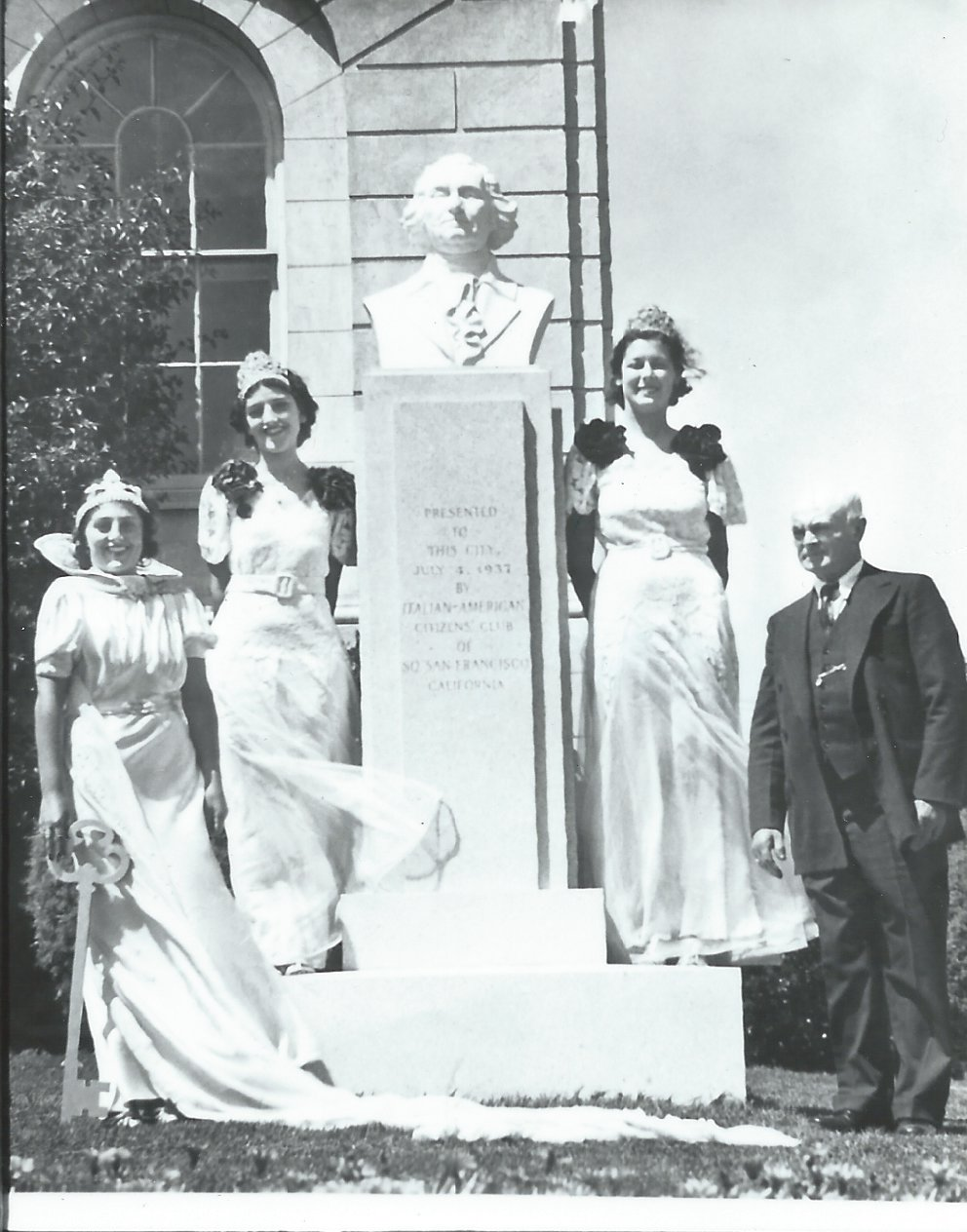 IACC On July 4, 1937 the IACC dedicated the George Washington statue on the City Hall Lawn. A rededicated is set for Oct 23, 2016 on the steps of the City Hall