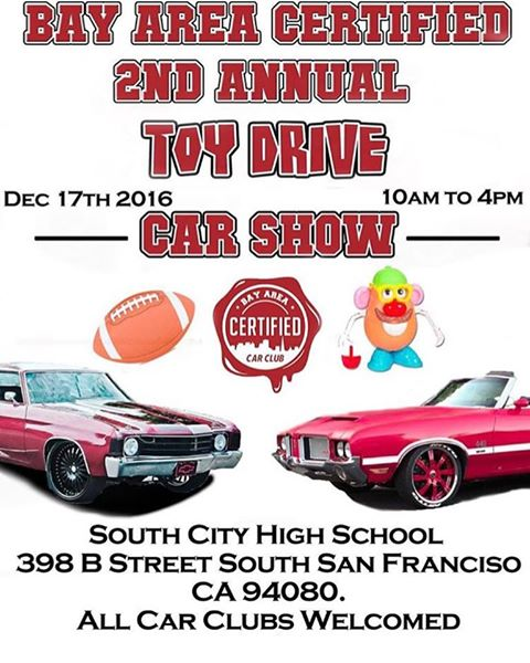Bay Area Certified Car Club To Host Event At Ssfhs December 17th