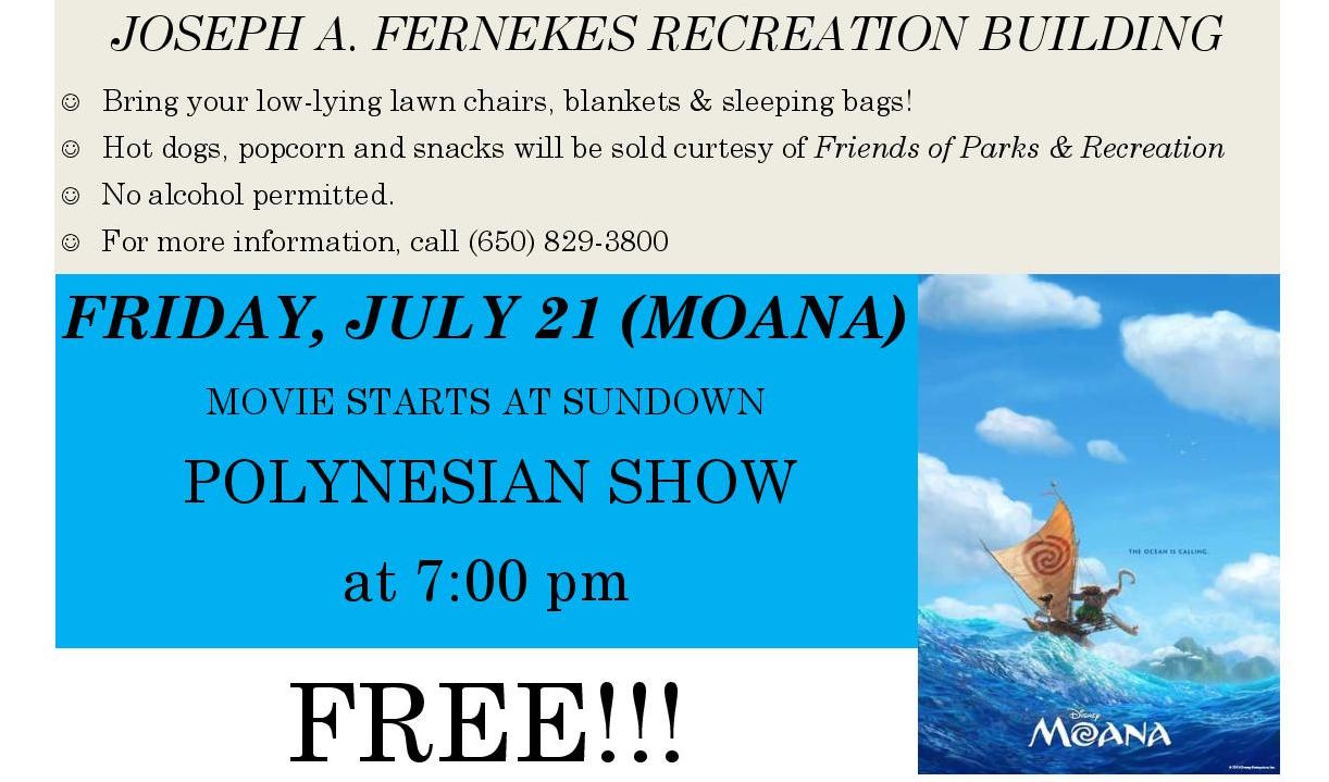 ssf hosts polynesian dance movie in the park night friday july 21